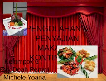 Klasifikasi Menu Kontinental Appetizer Main Course Dessert