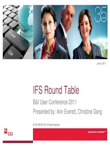 Ifs Round Table Cgi, Round Table Organization