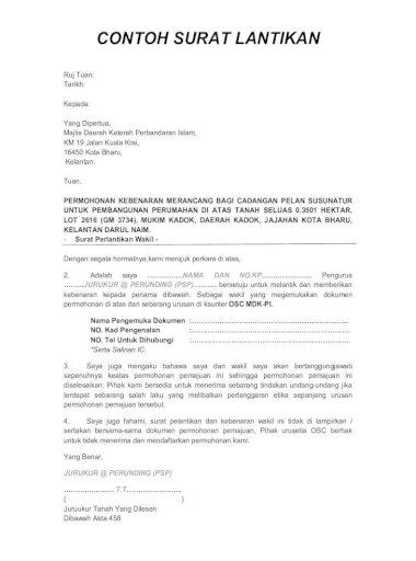 Contoh Surat Lantikan Jug A Fahami Surat Pelantikan Dan Kebenaran Wakil Ini Tidak Di Lampirkan