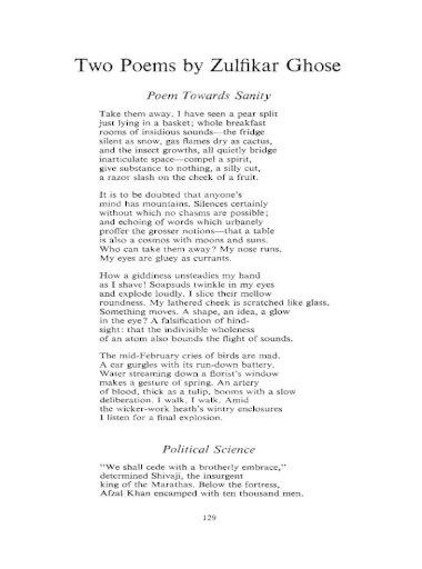 Two Poems By Zulfikar Ghose