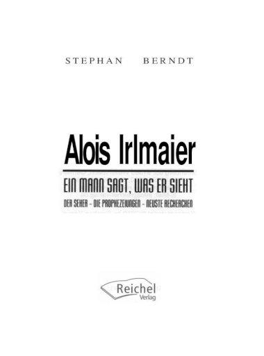 3 irlmaier prophezeiung Alois Irlmaier