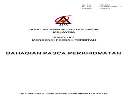 Jabatan Perkhidmatan Awam Malaysia Bahagian Pencen Cawangan Sabah