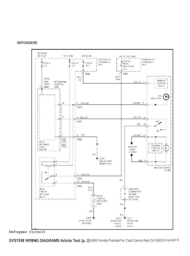 Honda Prelude Iv 92 96 System, 92 Honda Accord Wiring Diagram