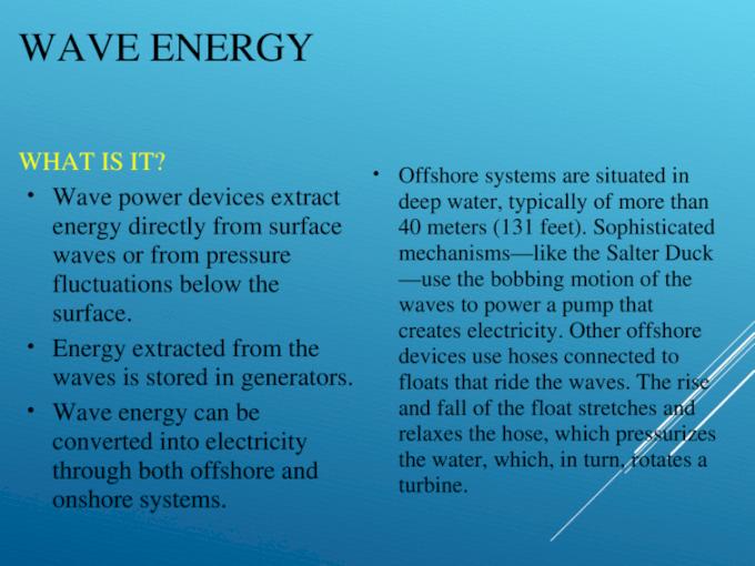 "Marine Hydrokinetic ""Blue"" Energy | My Florida Home Energy |Oscillating Wave Energy Converter"