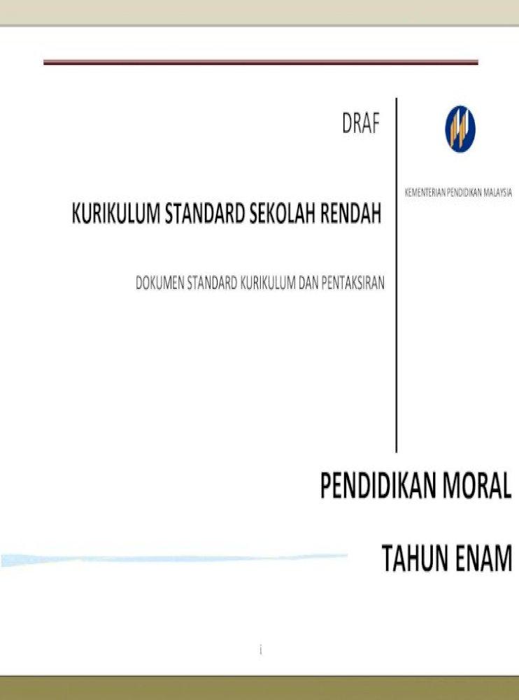 1 Dskp Pendidikan Moral Tahun 6