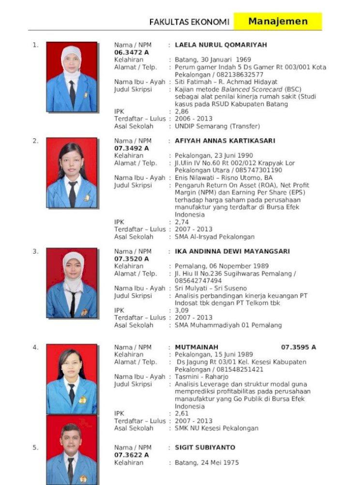 Wisuda Maret 2013 Manajemen