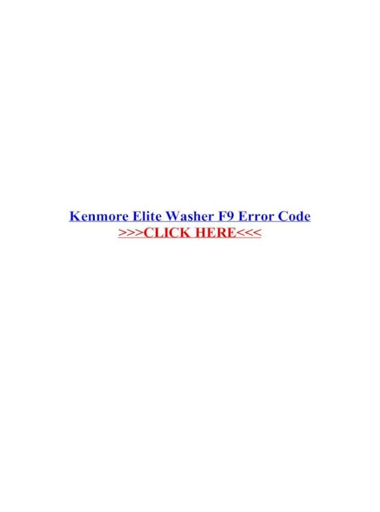 Kenmore Microwave Error Codesbestmicrowave