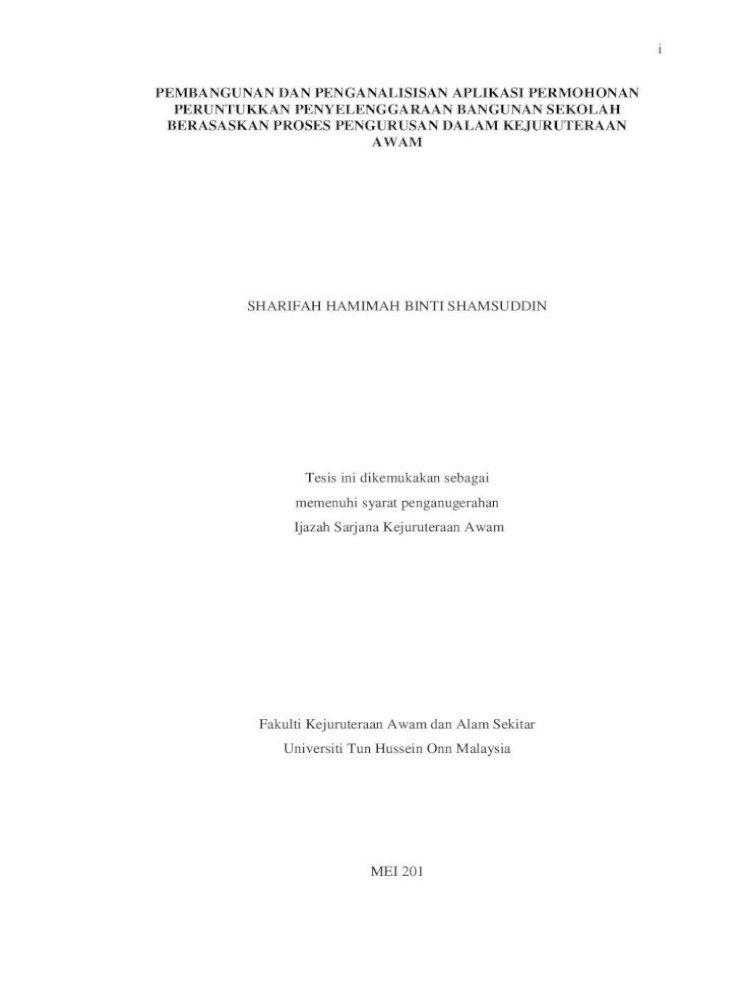 Pembangunan Dan Penganalisisan Aplikasi Am Bil 2 Tahun 1995