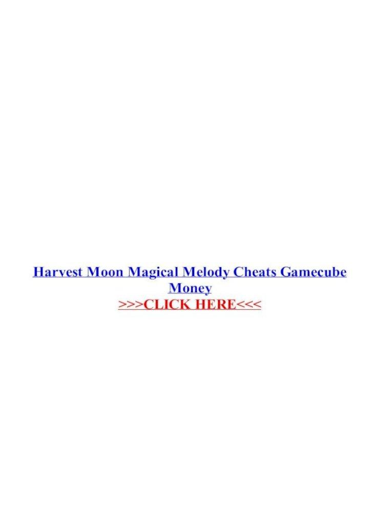 Harvest Moon Magical Melody Cheats Gamecube Money Melody Cheat Codes Harvest Moon Magical Melody