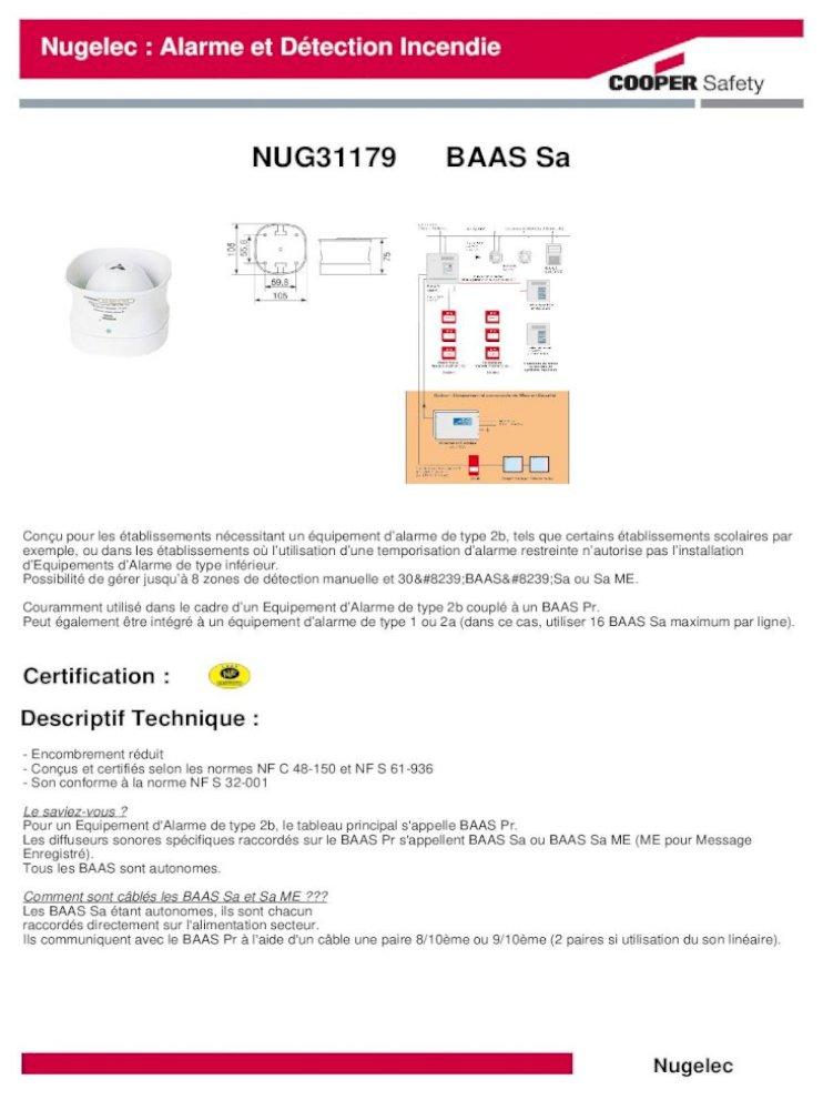 NUGELEC NUG30316 D/éclencheur Manuel membrane sans voyant Saillie Rouge