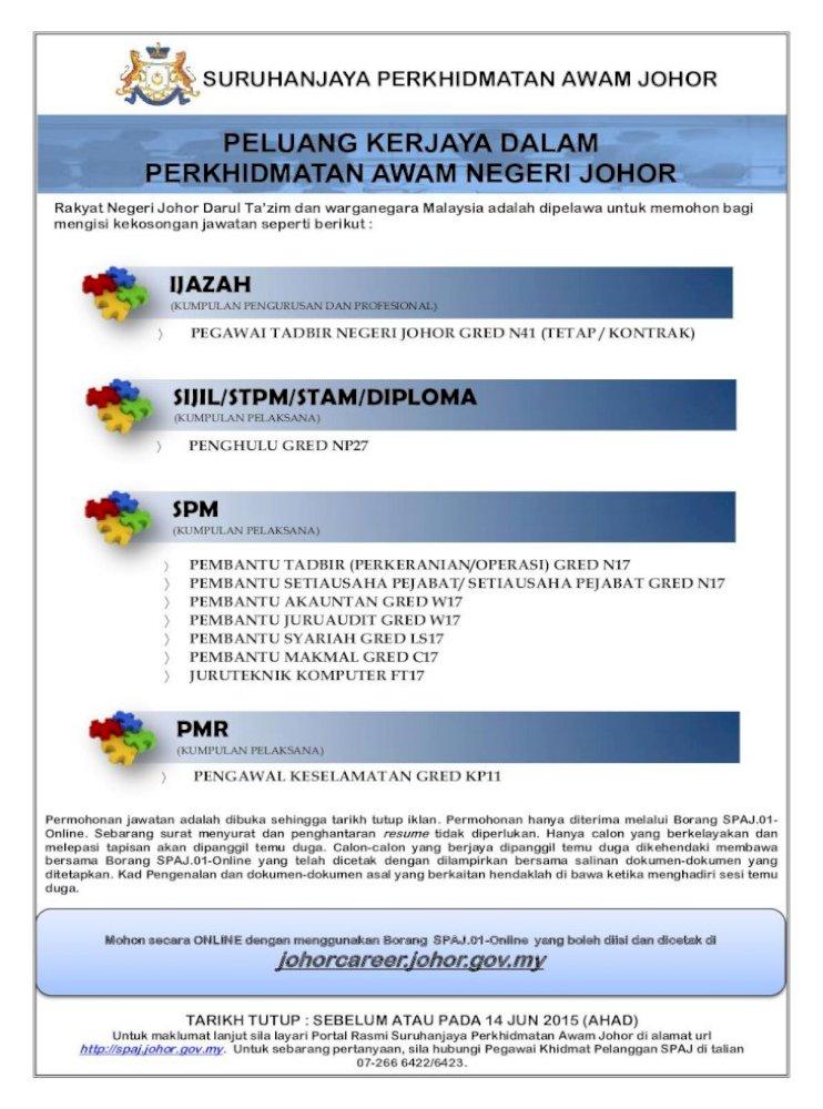 Pegawai Tadbir Negeri Johor Gred N41