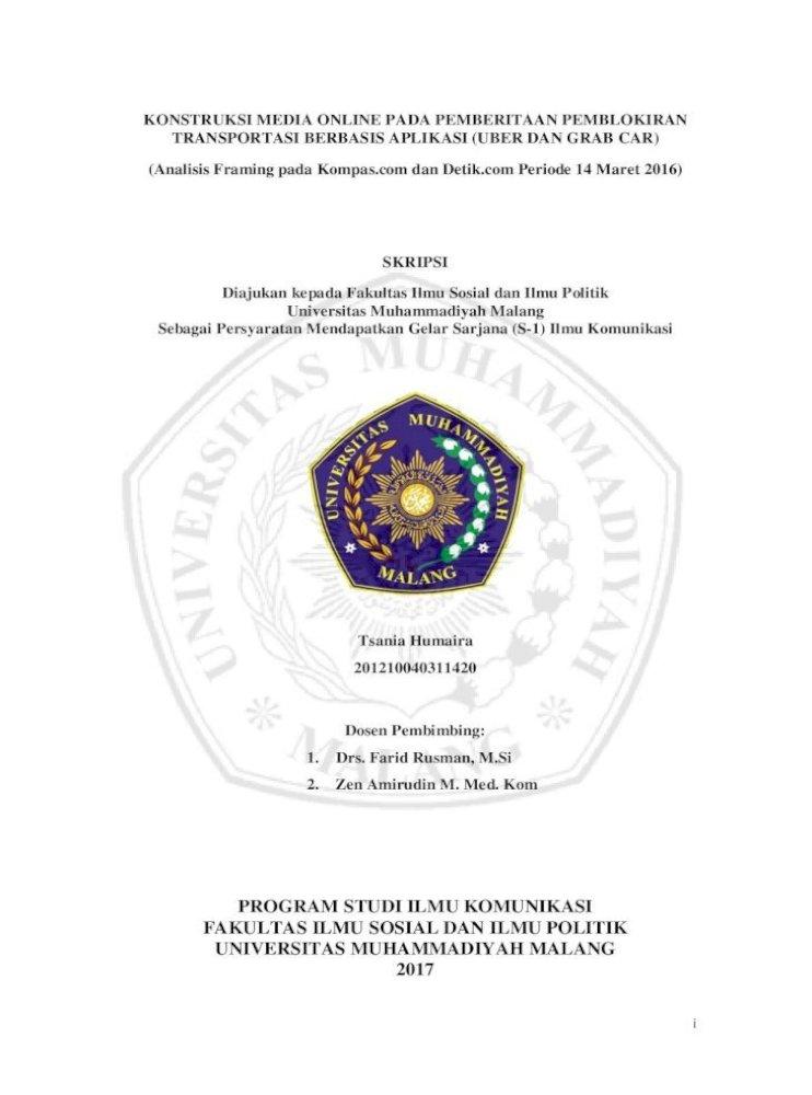 Program Studi Ilmu Komunikasi Fakultas Ilmu Ilmu Sosial Dan Ilmu