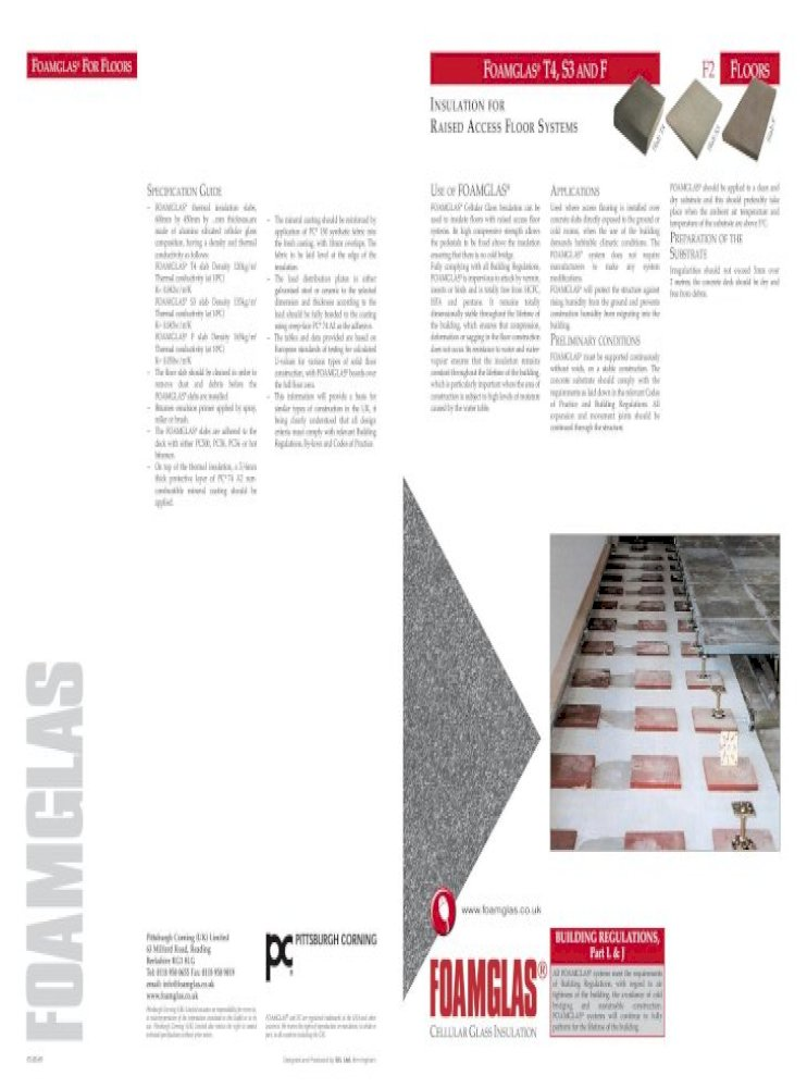 Foamglas For Floors Foamglas T4 S3and F F2 Foamglas Cellular