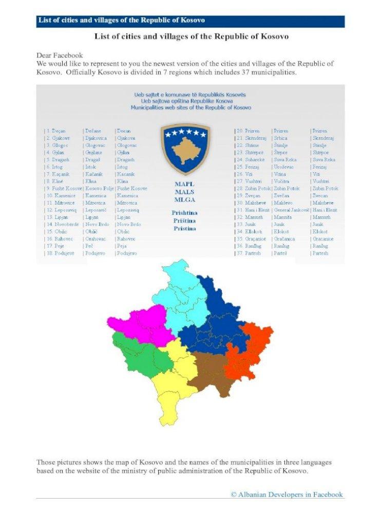 Suva Reka Kosovo Mapa