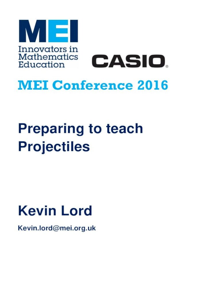 MEI Conference 2016 Mathematics In Education And Mei