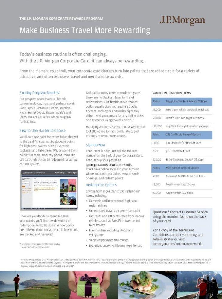 Chase Rewards Program Catalog