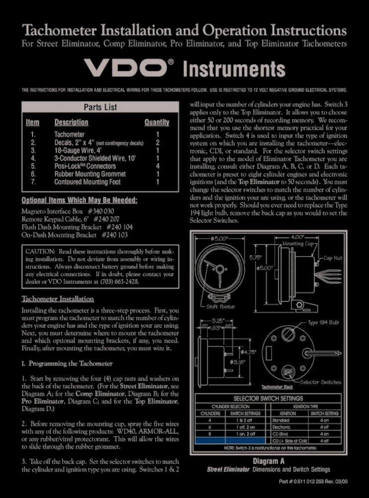 Vw Vdo Tach Wiring - wiring diagram postzimmermanthunder.com