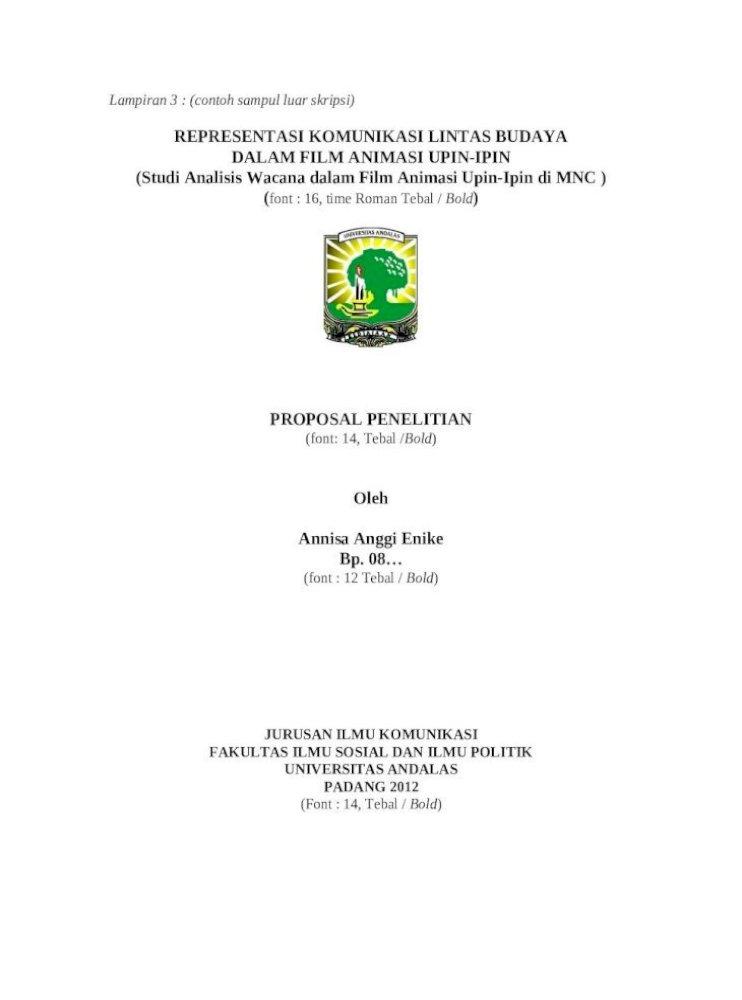 Contoh Sampul Proposal Penelitian Pigura