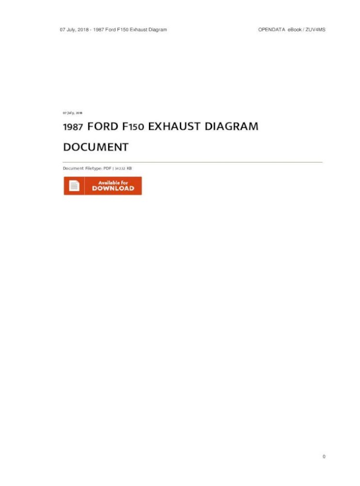 1987 Ford F150 Exhaust Diagram Document Pdf Diagram Ford Truck Diagrams And Schematics This Is
