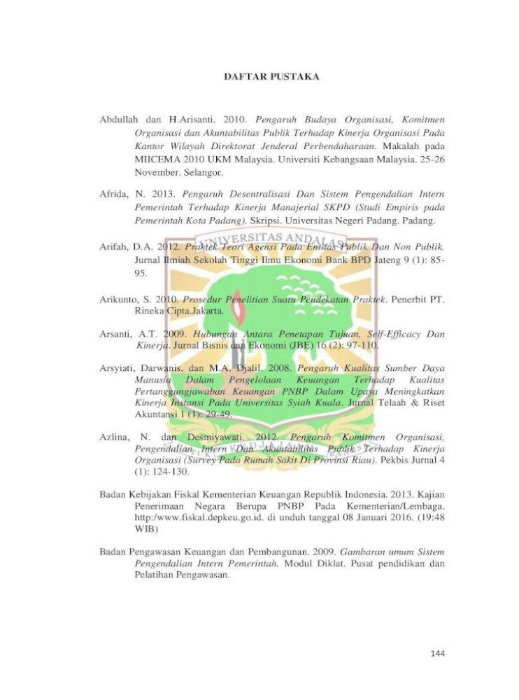 Daftar Pustaka Pustaka Pdf Organisasi Survey Pada Rumah Sakit