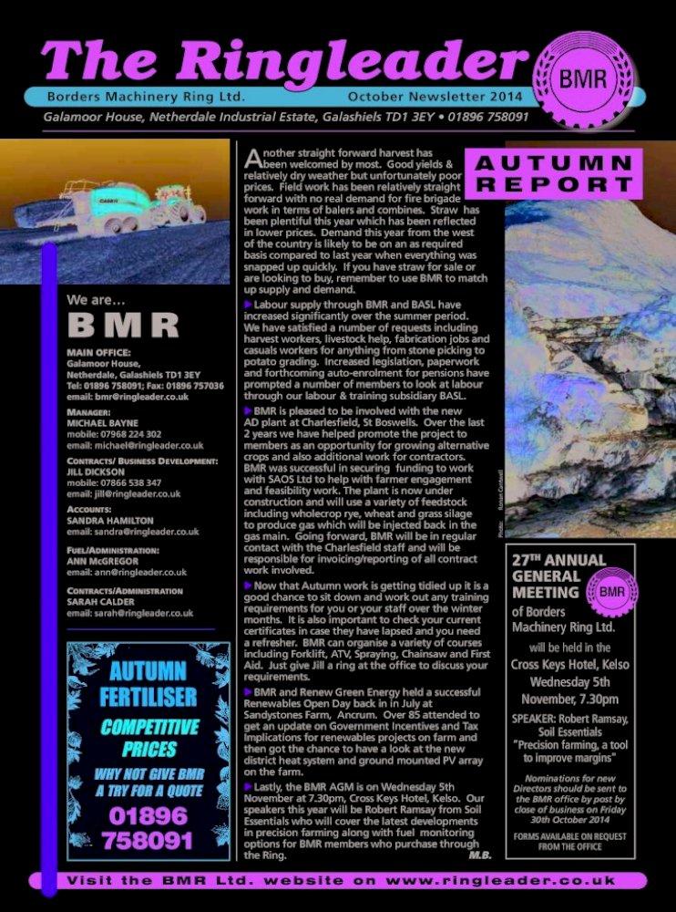 Orientar Engañoso Repetido  Borders Machinery Ring Ltd. October Newsletter ... Puma/Puma cvx upto inc  160 آ£1064 Puma/Puma cvx 165